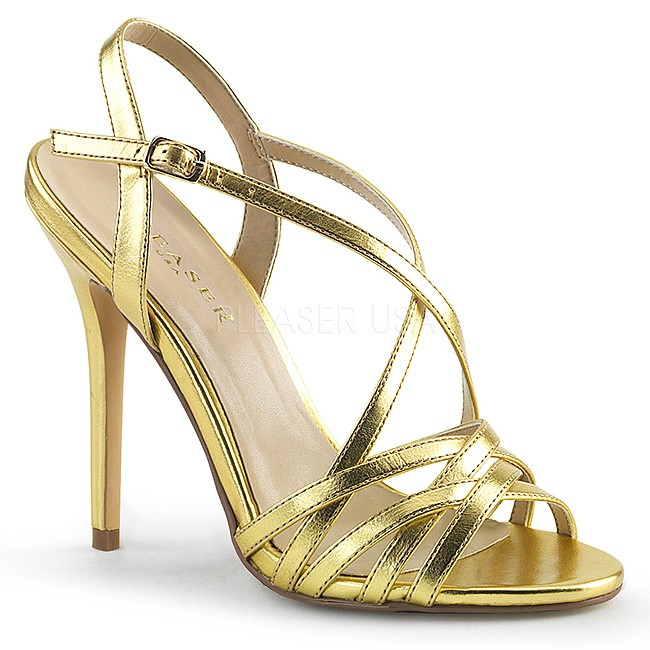 AMUSE-13 dorée high heels chaussures pleaser france 35 - 36